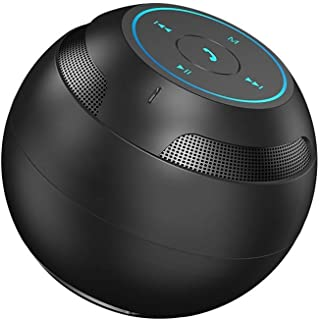 TDCQQ Portable Bluetooth Speaker, Wireless Outdoor Speaker Shower Speaker, with HD Sound, Support TF Card, 5 H Playtime, for Kayaking, Boating, Hiking (Color : Black)