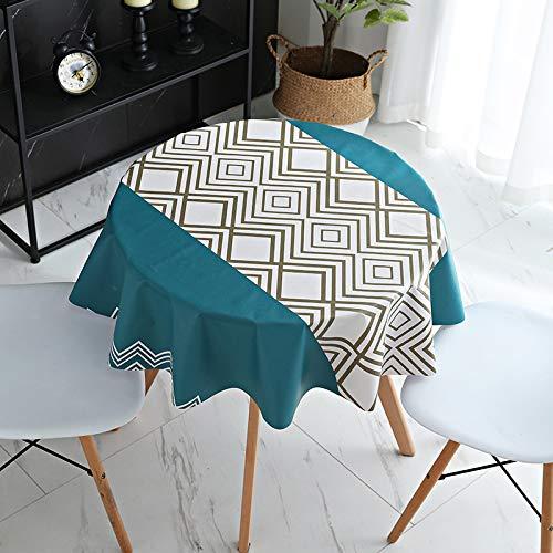 LIUJIU Mantel de vinilo decorativo de PVC, apto para cocina, interior y exterior, 120 x 170 cm