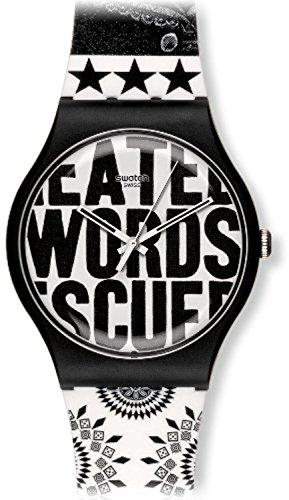 Swatch Unisex-Armbanduhr Analog Plastik SUOZ124
