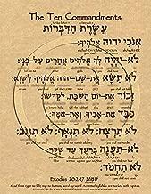 The Ten Commandments Hebrew Poster (8.5