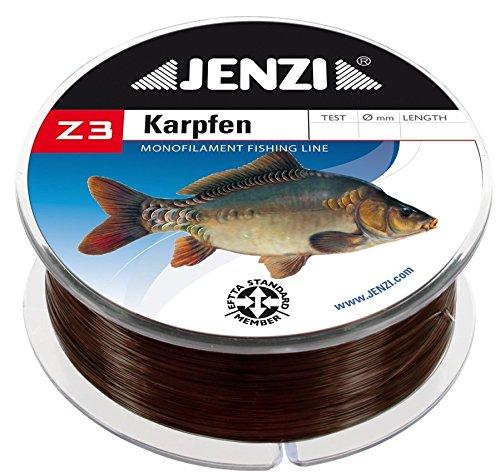Jenzi Angelschnur Z3 Line Karpfen, 0,25mm, 4,4 kg, 500m
