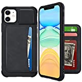 VEGO Wallet Case Compatible with iPhone 11 Pro Max with Credit Card Holder Slots, PU Leather Flip Kickstand Cover Magnetic Closure Case for iPhone 11 Pro Max 6.5 inches (Black)