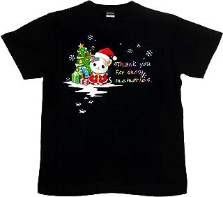 [GENJU] Tシャツ クリスマス メンズ キッズ 子供服 サンタクロース プレゼント 猫 ネコ 可愛いにくきゅう 雪の結晶 表もデザインあり メンズ キッズ
