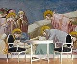 Papel Pintado Pared Pintura Al Óleo De La Figura Cristiana De Jesús Fotomurales 3d Papel Pintado Dor...