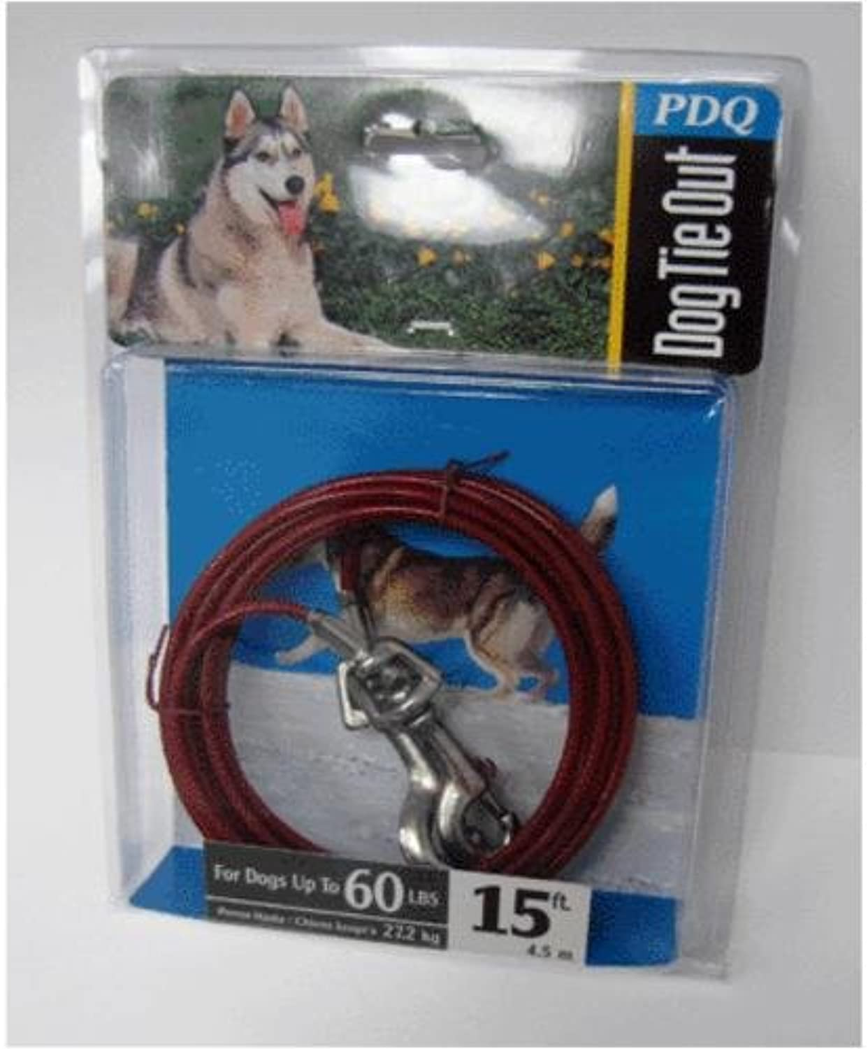 Q351500099 15' Pdq Large Dog TieOut by Boss Pet Products