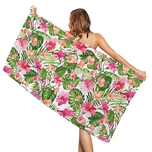 LZYMLG Toallas de mano de hojas de palma tropicales, de la selva, ultra suave, fina, toalla de baño multiusos muy absorbente, para mano, cara, gimnasio y spa, 35 x 70 cm