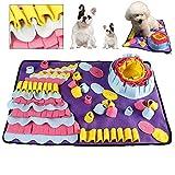 Snuffle Mat para Perros Estera de alimentación Estera de Entrenamiento Manta para la Nariz Juguete de Juego para mascotas, para hacer habilidades y liberar el estrés,70 x 50 cm