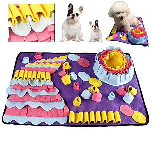 longyisound Hund schnüffelteppich intelligenzspielzeug, 70X50cm Schnüffelrasen | Schnüffelwiese | Suchmatte | Futtermatte | Hundespielzeug für Nahrungssuche Fähigkeiten Stress Release
