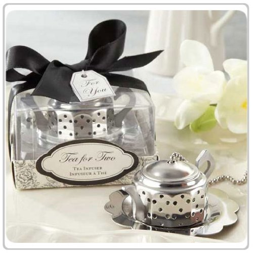 10x Tea for Two Teapot Tea Infuser Wedding Favors and Bridal Shower Favors