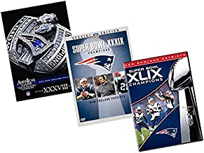 Ultimate NFL New England Patriots 3-Pack DVD Collection: America's Games Super Bowl 38 (XXXVIII) / Super Bowl 39 (XXXIX) Champrions / Super Bowl 49 (XLIX) Champions