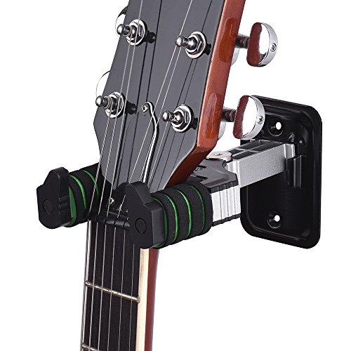 RuleaxAsi Instrumento Musical Gancho Titular Gancho de Montagem Na Parede com Esponja Almofada para Guitarra Elétrica Bass Guitar Mandolin Banjo