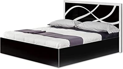 AltoBuy SYLLA Noire - Lit 160x200cm avec Tête de Lit