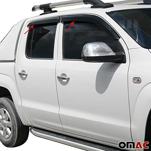 OMAC Windabweiser Regenabweiser für Amarok ab 2011 4-TLG Schwarz