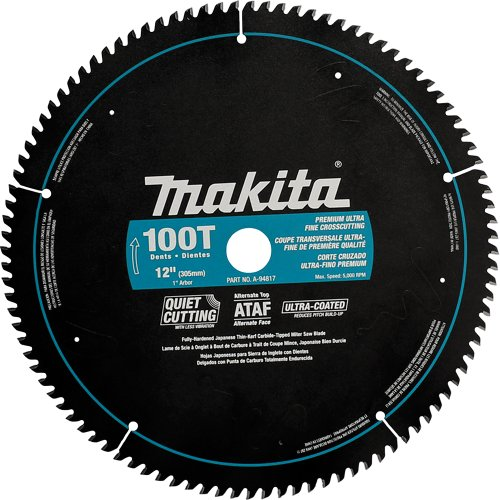 Makita A-94817 12-Inch 100 Tooth Ultra Coated Mitersaw Blade