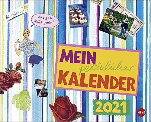 Mein persönlicher Kalender - Broschurkalender - Kalender 2021 - Heye-Verlag - Gabi Kohwagner - Wandkalender mit Illustrationen und Platz für Eintragungen - 30 cm x 24,4 cm (offen 30 cm x 48,8 cm)