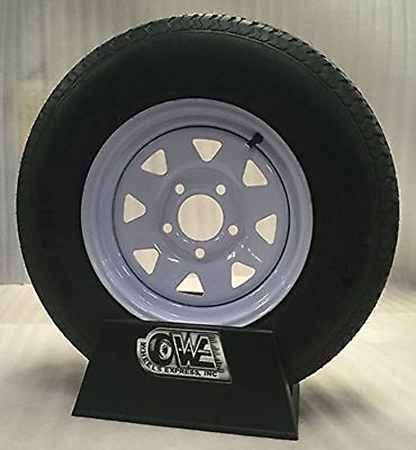 "13"" BOAT TRAILER UTILITY WHITE SPOKE 5X4.5 TRAILER WHEELS ST175/80D13 TIRES"