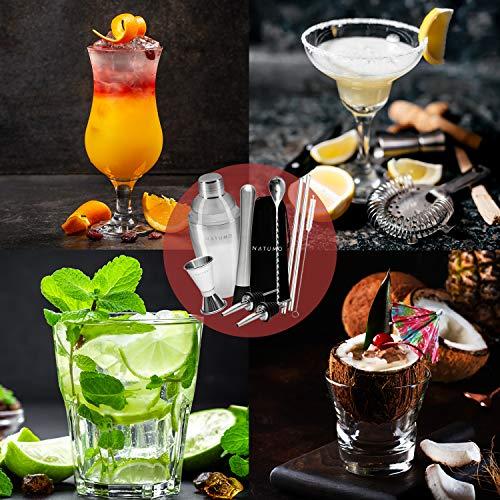 NATUMO ® Cocktail Shaker Set Edelstahl - 6