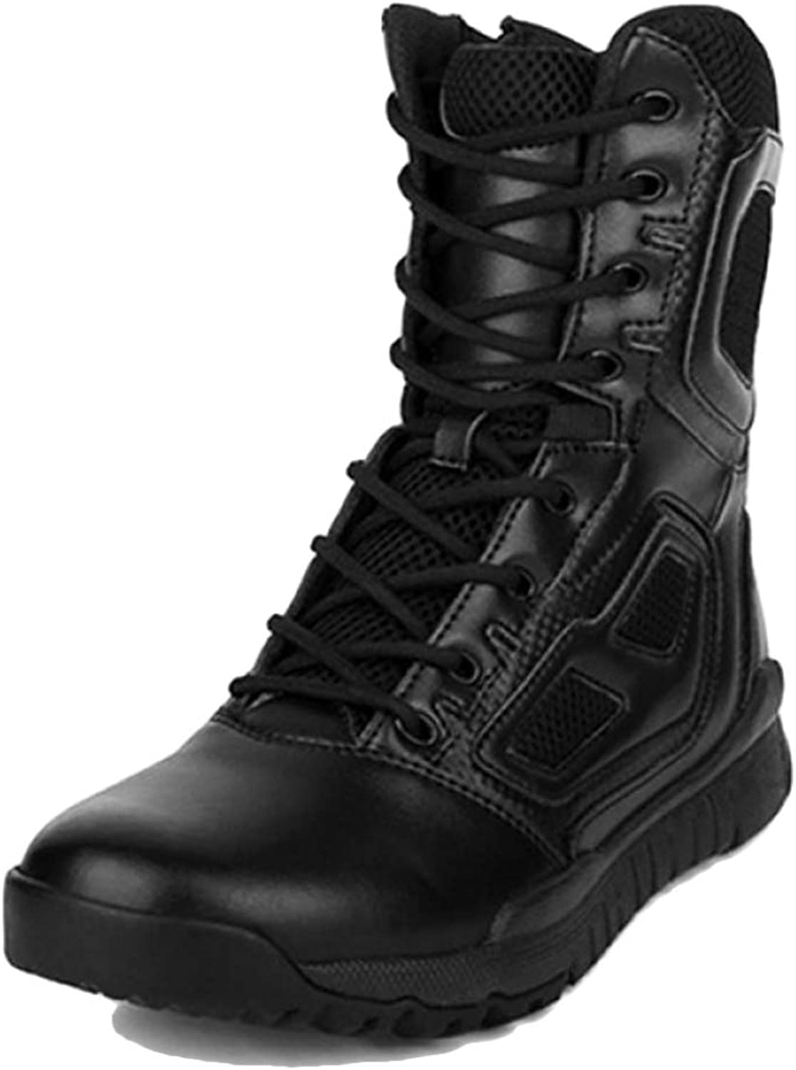 YC Outdoor Training Desert Boots For Mens Police Hiking Camping Combat Boots Safety High Tops Martin Boots Army Military Special shoes