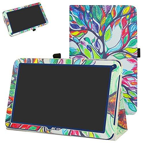 MAMA MOUTH ARCHOS 101E Neon Funda, Slim PU Cuero con Soporte Funda Caso Case para 10.1' ARCHOS 101E Neon Android Tablet PC,Love Tree