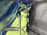 walexo Trampolin Innenliegendes Sicherheitsnetz 300-305 cm Ø 8 Stangen Fangnetz Netz