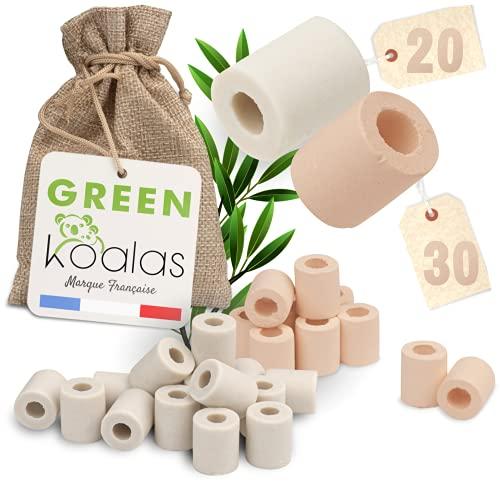 Green Koalas X50 Perles de Céramique EM® Roses X30 + Grises X20 Pack Purificateur Naturel Filtration Eau du Robinet Carafe Fontaine Gourde Machine à c