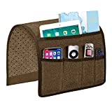 Joywell Sofa Armrest Organizer, Remote Control Holder for Recliner Couch, Arm Chair Caddy with 5 Pockets for Magazine, Tablet, Phone, iPad, Chocolate