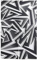 TINZZEROS のれん おしゃれ 抽象的なシームレスな幾何学模様の曲線 WC 和柄 ファブリック プライベート 寝室 遮光 目隠し 間仕切り 生活雑貨 突っ張り棒付き 幅85㎝×丈120㎝