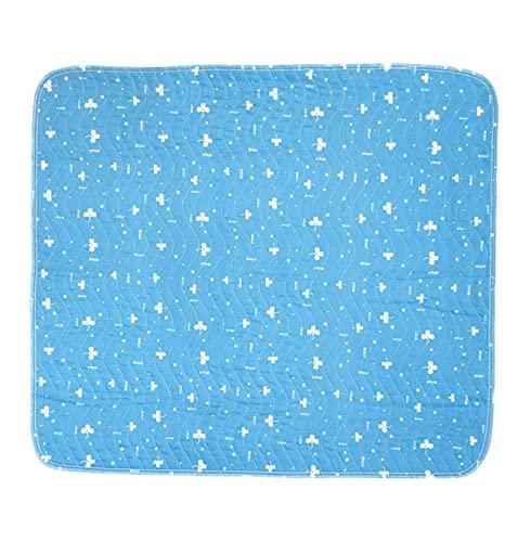 SqSYqz Protector de colchón y sábana Ultra Impermeable, absorbencia, Almohadilla de Cama de Primera Calidad, Acolchado, Impermeable, Reutilizable y Lavable,45 * 60cm