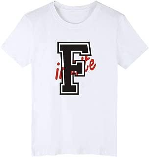 Kpop Infinite T-Shirt Women Men Summer Short Sleeve O Neck T-Shirt Fans Supportive Cotton Casual T-Shirt Women Men(White3,XS)