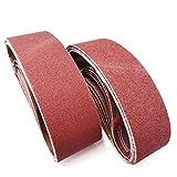 Aiyard 3 x 24-Inch Aluminum Oxide Sanding Belts, 40/80/120/150/240/400 Assorted Grits Abrasive Belts for Belt Sander, 18-Pack
