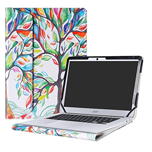 Alapmk Protective Case Cover for 14' Acer Chromebook 14 CB3-431 Series Laptop(Not fit ACER CHROMEBOOK 14 for Work CP5-471 Series),Love Tree