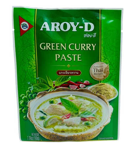 Aroy-D Pasta de Curry Verde 12x50g -1 Caja De 12 Unidades