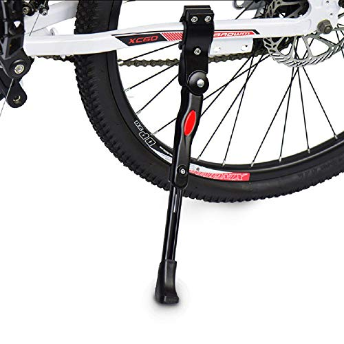 Jimly Alloy Bicycle Kickstand Adjustable Non-Slip Rear Side Bike Kick Stand for 22 24 26 27 Mountain Bike Adult Bike and700 Road Bike