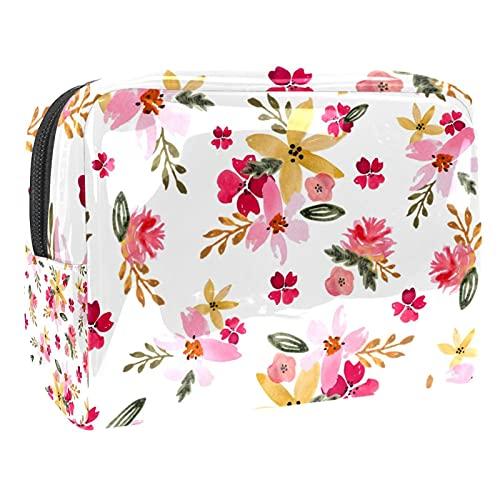 Bolsas de cosméticos de viaje con diseño de mariposa, color rosa, 18,5 x 7,5 x 13 cm, bolsa de maquillaje, bolsa de cosméticos de viaje, Multi-15, 18.5x7.5x13cm/7.3x3x5.1in,