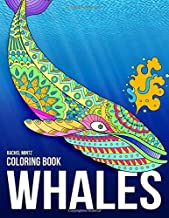 Whales - Coloring Book: Magnificent Blue Whales In Relaxing Anti Stress Designs To Color
