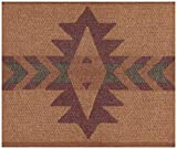 Wall Border - Abstract Brown Maroon Faux Southwestern Wallpaper Border Retro Design, Prepasted Roll 15 ft. x 7 in.