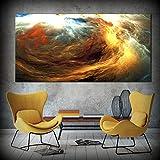 LYFrend Cartel de la Foto del Paisaje de la Nube Colorida Abstracta Impresiones del Arte de la Pared de la Lona para la Imagen Decorativa de la Sala de Estar 60x120 cm / 23.6'x 47.2' Sin Marco