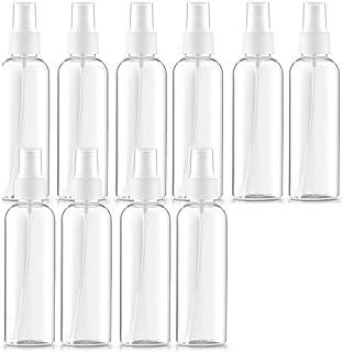 6 Pezzi Flacone Spray da Viaggio Kit Flacone Spray da Viaggio per Trucco Vuoto Bottiglie a Nebbia Trasparente Contenitori da Viaggio Ricaricabili 2 Oz// 60 ml e 3,4 Oz// 100 ml Etichetta 2 Imbuti