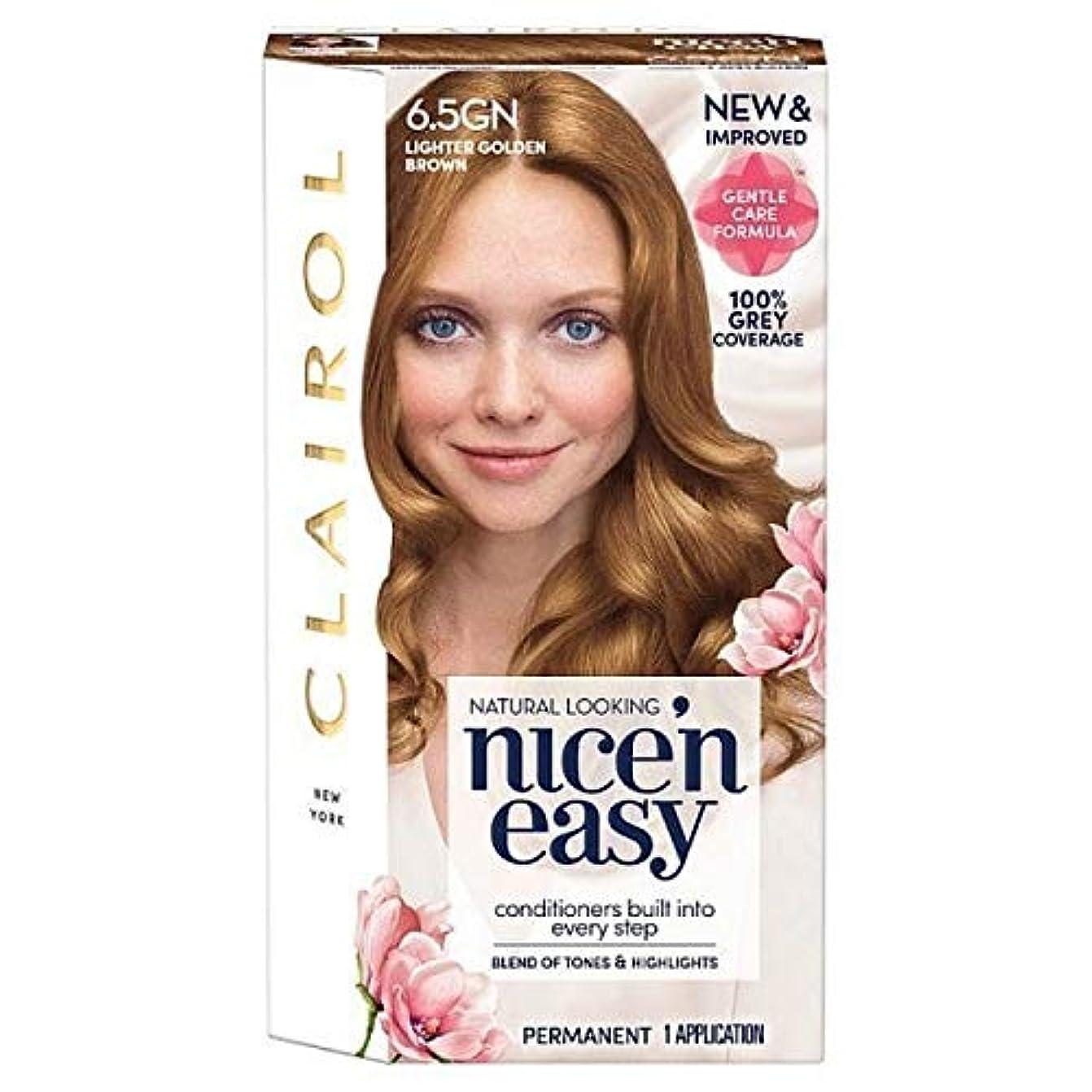 貧困藤色配分[Nice'n Easy] Nice'N簡単6.5Gn軽くキツネ色 - Nice'n Easy 6.5Gn Lighter Golden Brown [並行輸入品]
