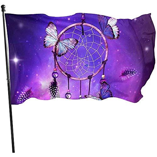 wallxxj Decor Flag Traumfänger Lebendige Bunte Gartenfahnen Hof Fahnendruck Im Freien Standard 150X90Cm Willkommen Urlaub Hof Banner