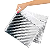 ABC Pack of 25 Thermal Bubble Mailers 10 x 10.5. Metallic Padded Self Seal Envelopes 10 x 10 1/2. Cushion Food Mailers. Insulated Thermal Shipping Bags for Mailing, Packing, Shipping. Wholesale Price