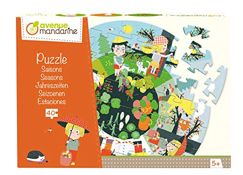 Decopatch - Pu007O - Avenida Mandarine - Puzzle - Las Estaciones - 40 Piezas