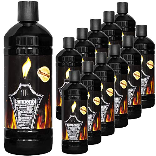 Flameup Lampenoel Lampenöl Petroleum Lampe Garten Oel Fackeln Fackel Laterne Öl Innen Camping 1-24 Liter Flasche Outdoor Oil Öllampe flüssig Gartenfackeln, Menge:12 L