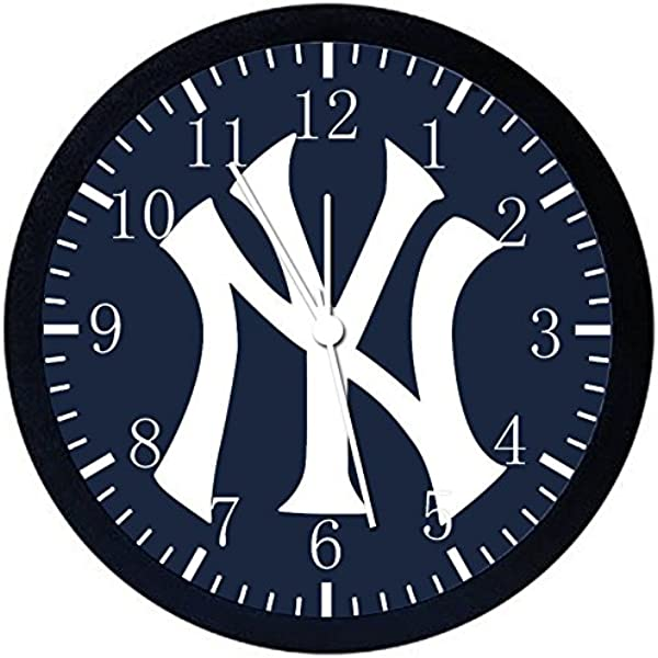 洋基队黑色框架挂钟 Z163 适合礼物或办公室家居墙壁装饰 10