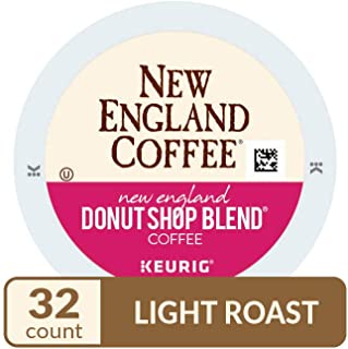 New England Coffee Single Serve K-Cup, New England Donut Shop Blend, 32 Count