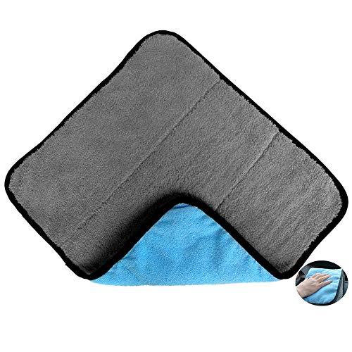 ZCECCO Microfaser TüCher Auto Poliertuch Mikrofaser Auto Reinigungstücher Fusselfreies Mikrofasertuch Mikrofaser-Handtuchwagen Gray Blue