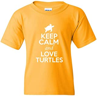 ZoDong Keep Calm and Love Turtles Animal Lover Youth Kids T-Shirt Tee
