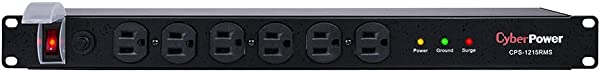 CyberPower CPS1215RMS Surge Protector 120V 15A 12 Outlets 15ft Power Cord 1U Rackmount