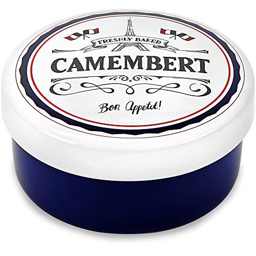 Andrew James Plat pour Camembert Camembert Baker | Boite a Camembert en Céramique | Plat Four pour Fromage Mou | 15cm Diamètre