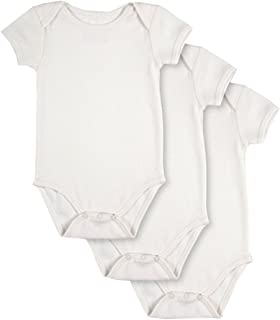 83e5bdf68b PACT Baby 3-Pack 100% Organic Cotton Short Sleeve Bodysuit
